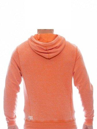Pánská mikina s kapucí LEONE oranžová M [LSM1690]