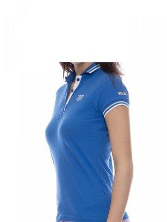 Tričko LEONE Polo dámské modré XS [LW1814]