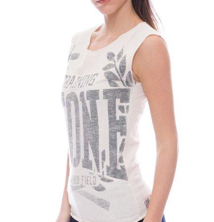 dámské tričko bez rukávů bílé